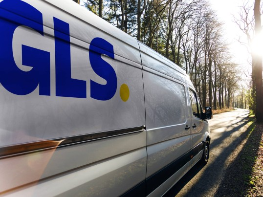 GLS France Driver delivers in Express before 1:00 pm door