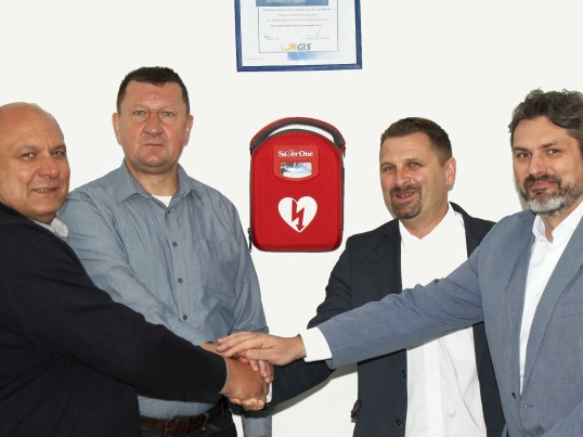GLS donated a defibrillator life-saving equipment